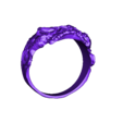 zombie  ring 17mm .stl Télécharger fichier STL gratuit Anneau de crâne de zombie • Objet pour imprimante 3D, LittleTup