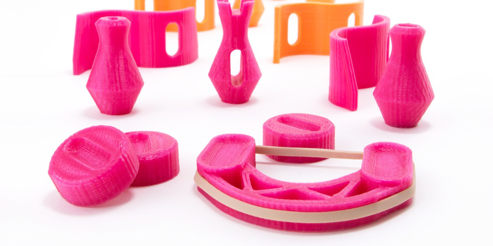 Discover in this new collection of 3D models using smartly rubber bands