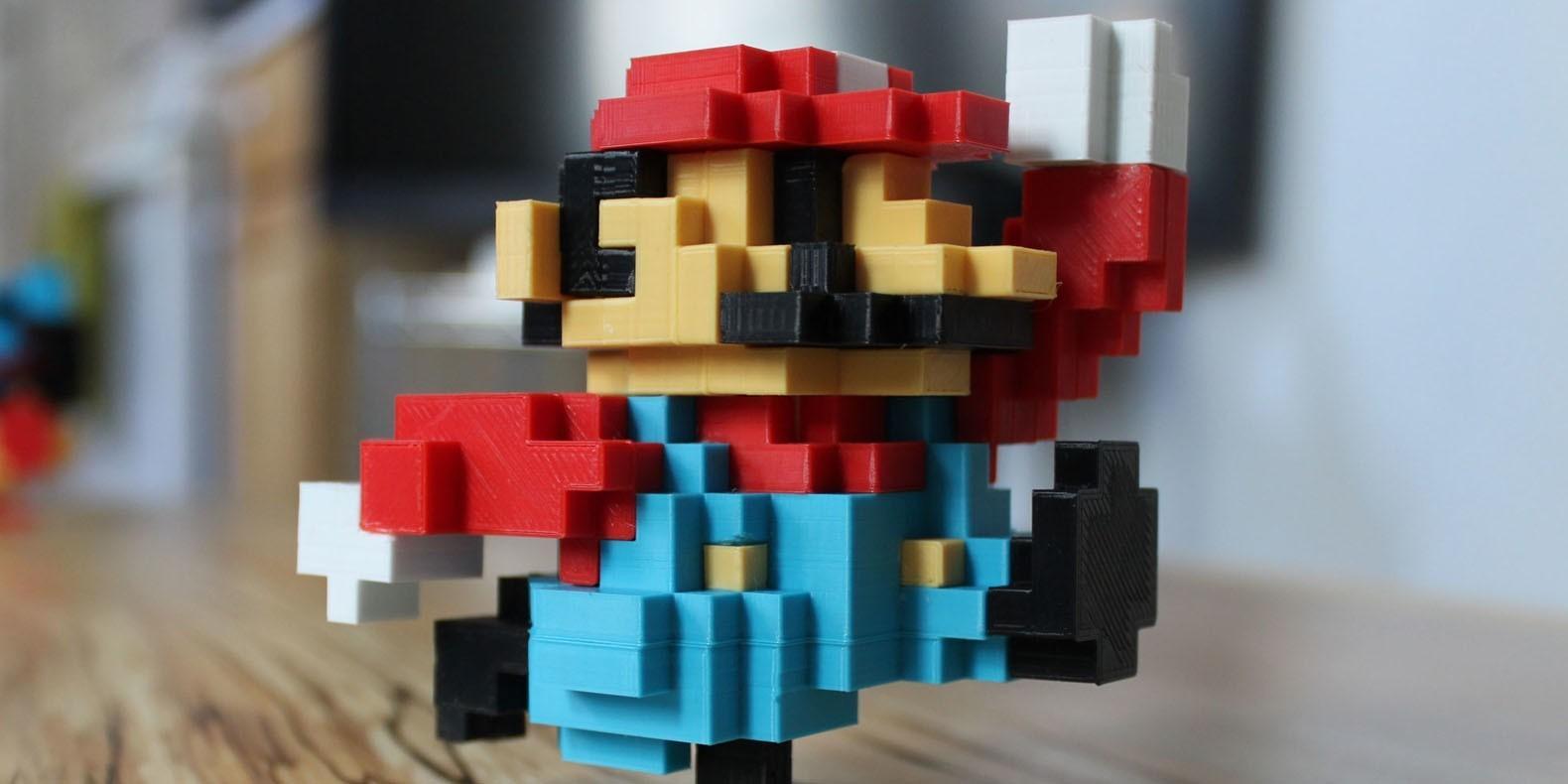 Encuentre aquí una selección de los mejores modelos 3D de Mario para hacer con una impresora 3D