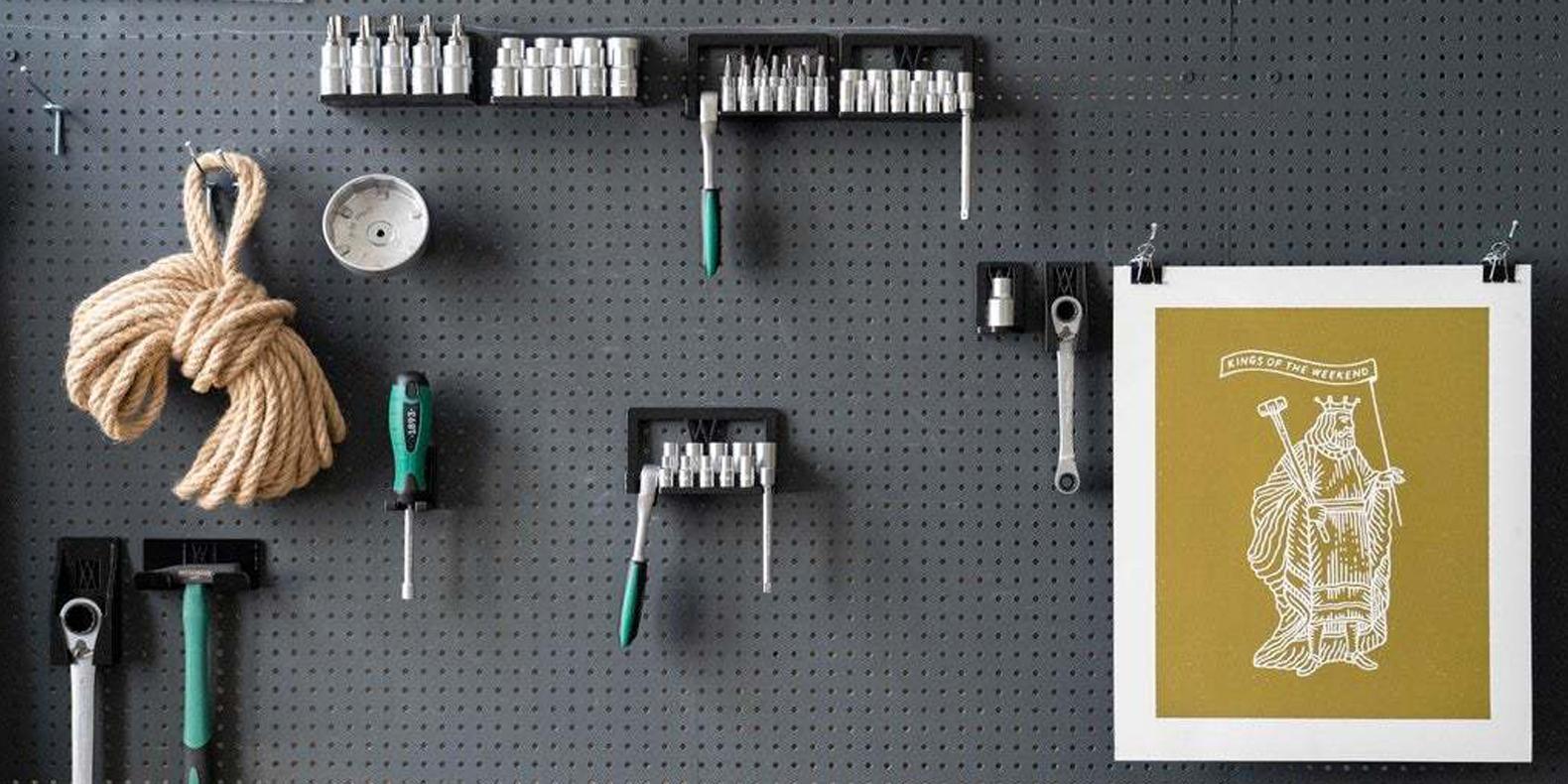 Voici une sélection des meilleurs fichiers pour imprimante 3D utiles pour organiser votre pegboard
