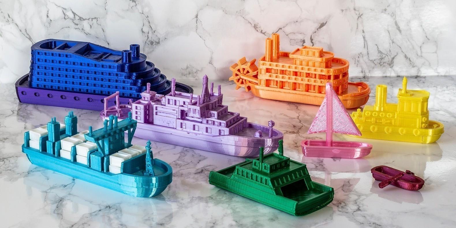 Découvrez dans cette nouvelle collection de modèles 3D tous les fichiers 3D pour imprimantes 3D liés aux bateaux