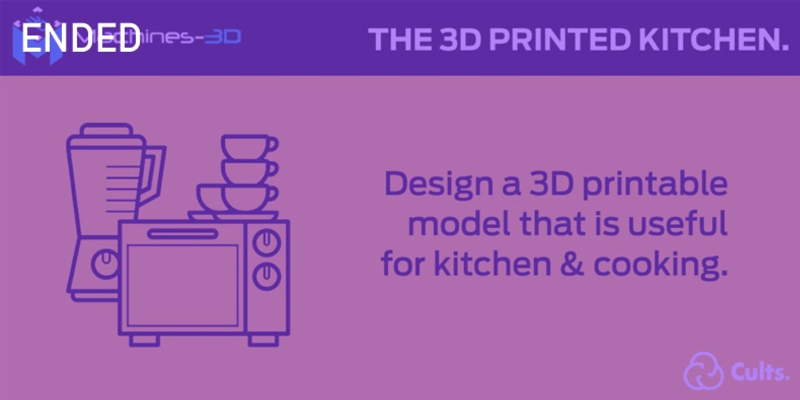 The challenge of design and 3D printing about the kitchen.
