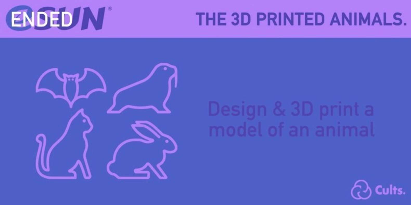The challenge of design and 3D printing about Animals