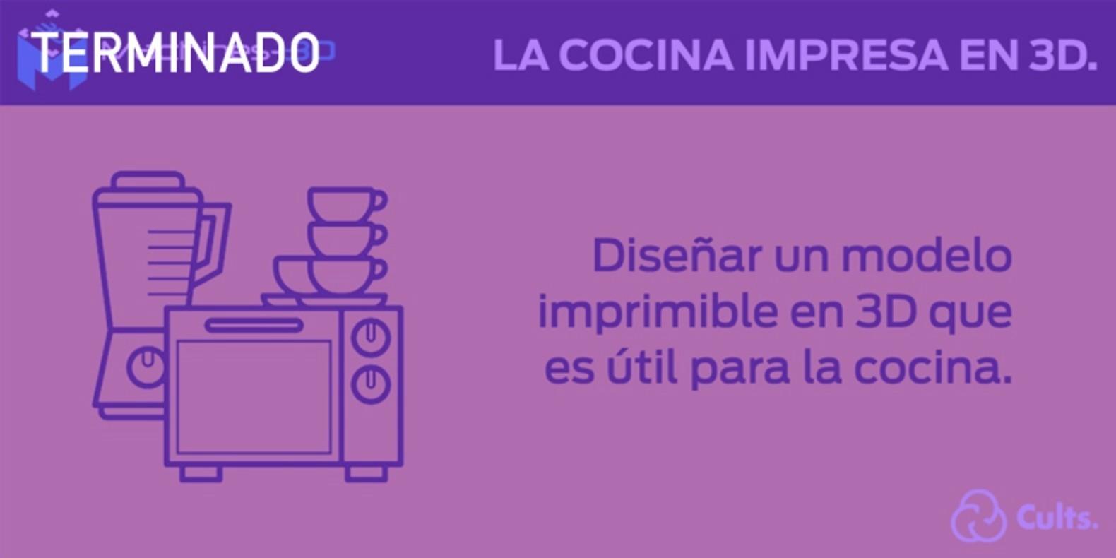 El reto del diseño y la impresión 3D en la cocina.