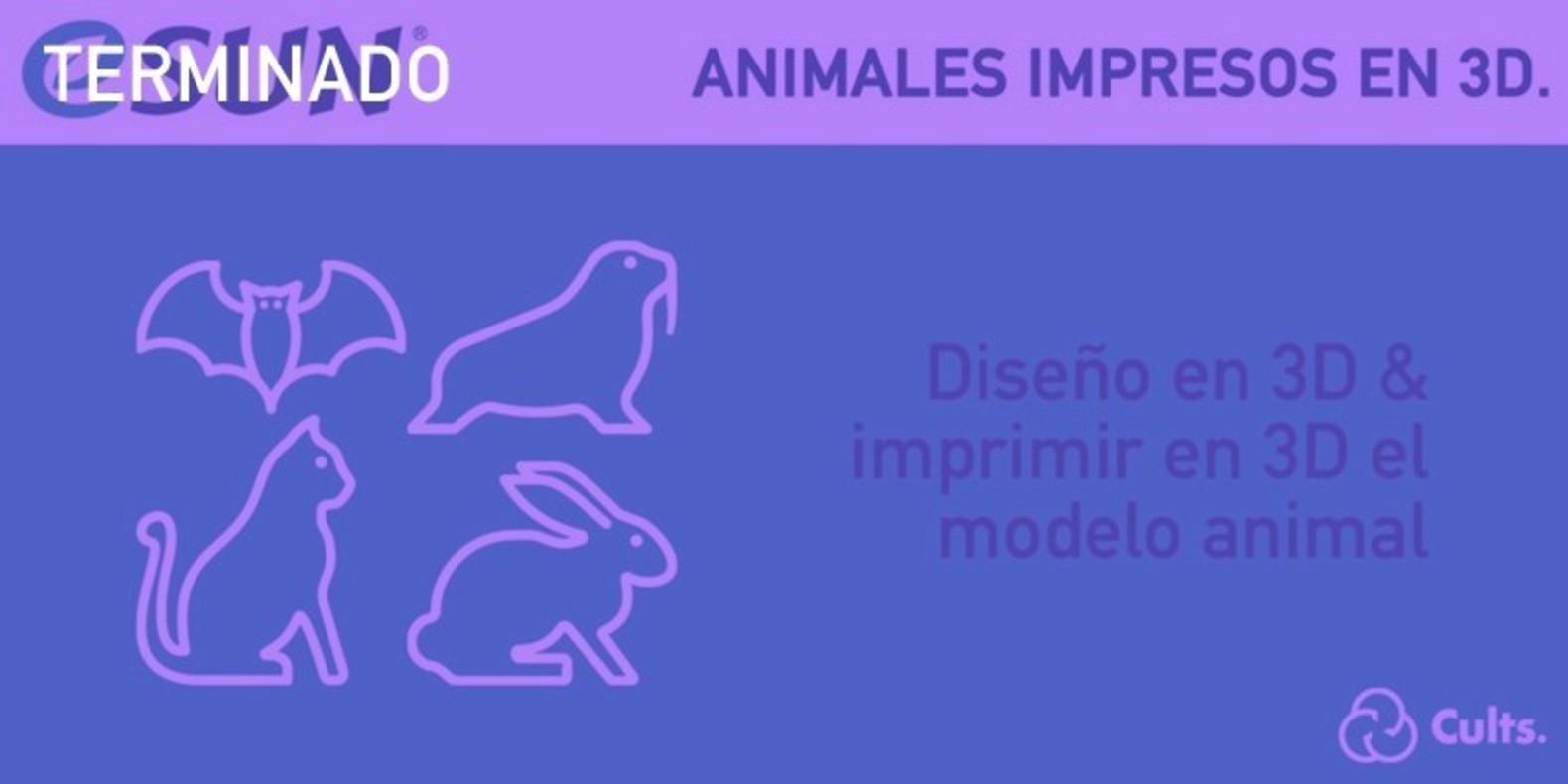 El reto del diseño e impresión en 3D sobre Animales