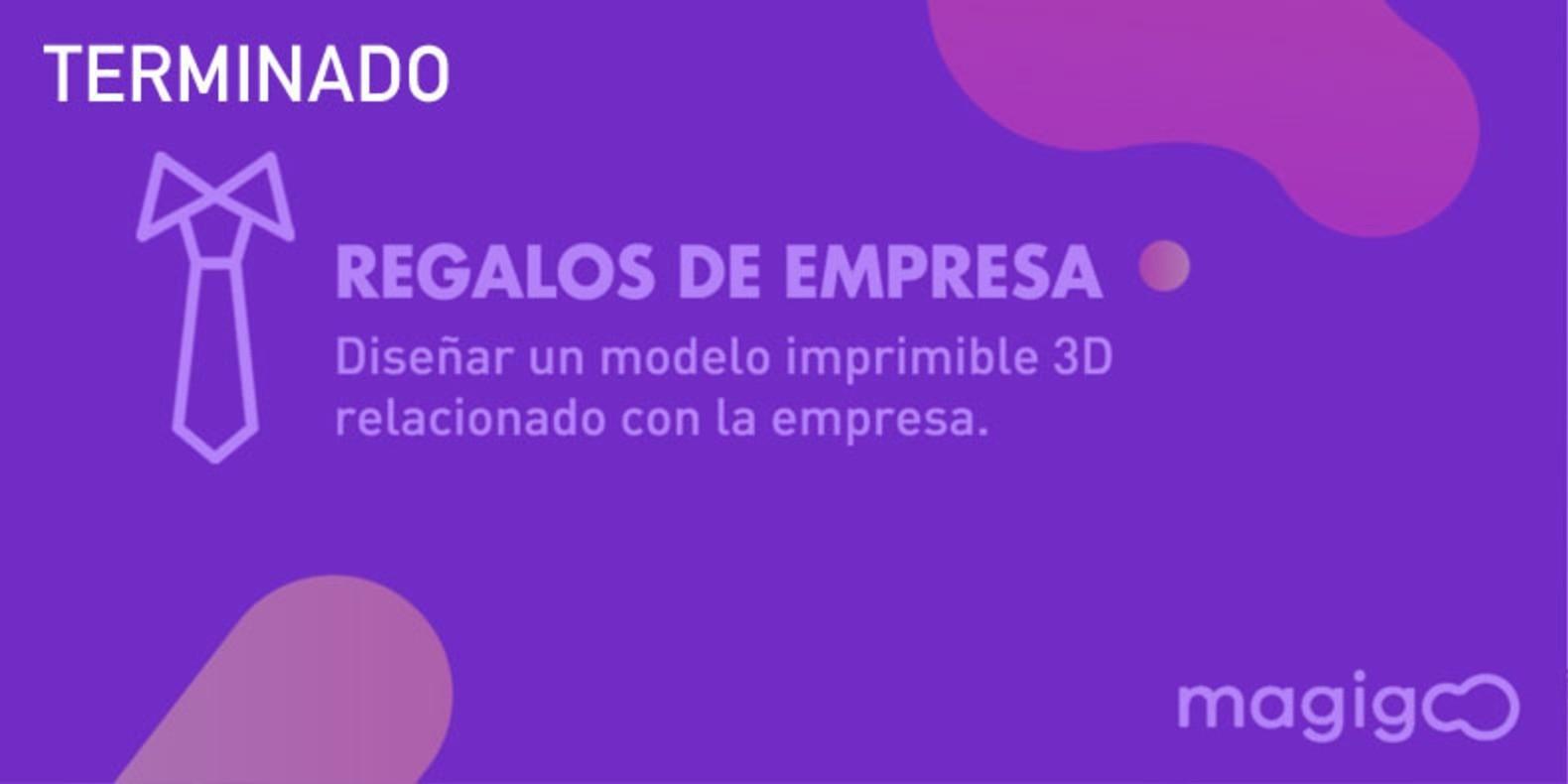 Modelar un regalo de empresa imprimible en 3D, un objeto que podemos ofrecer en una relación profesional