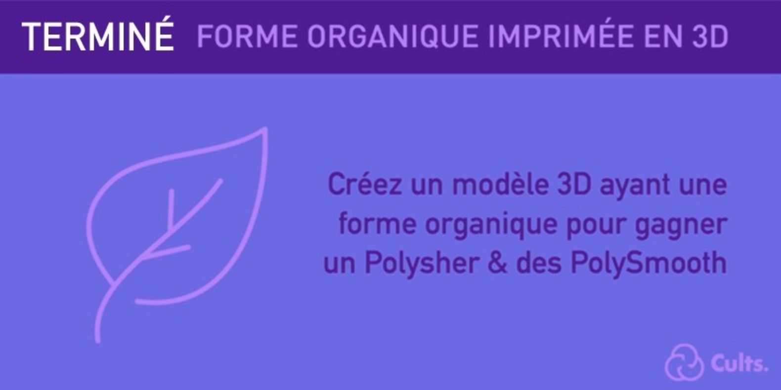 Le challenge du design et de l'impression 3D autour des formes organiques