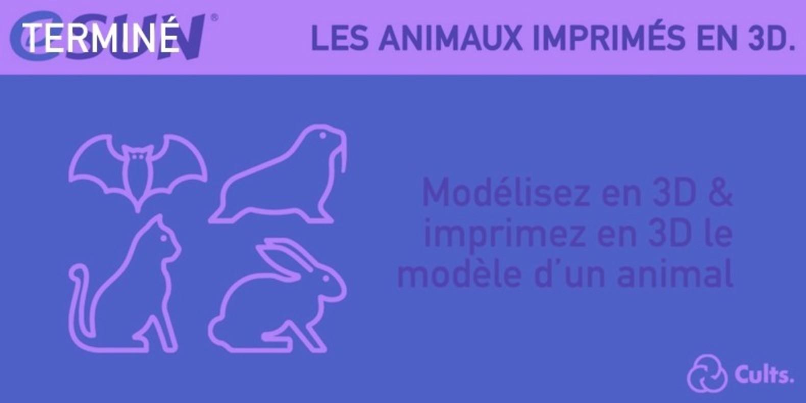 Le challenge du design et de l'impression 3D au sujet des Animaux