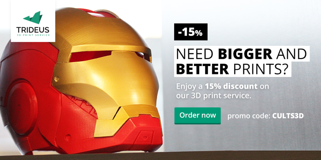 AD • Trideus 3D Print Service • -15% with promo code CULTS3D