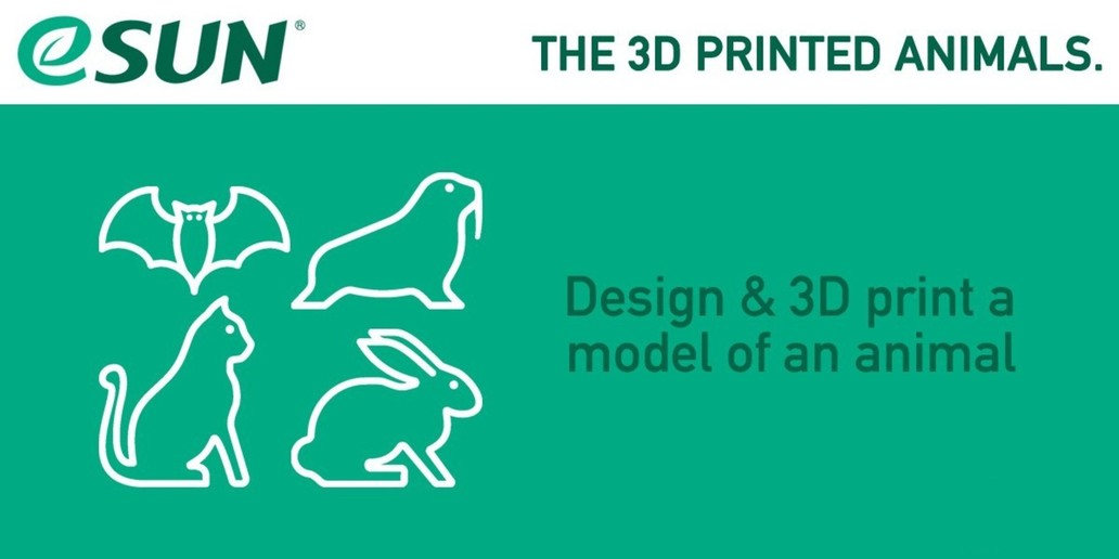 Design & 3D print a model of an animal to win 1 year of filaments • Contest eSun