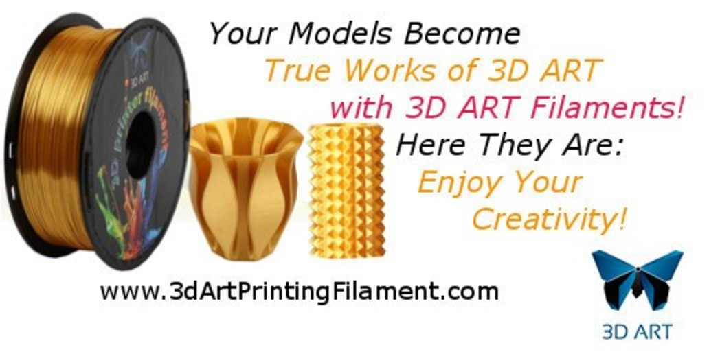 AD • 3D Art Printing Filament • Buy online stunning filaments at the best price!
