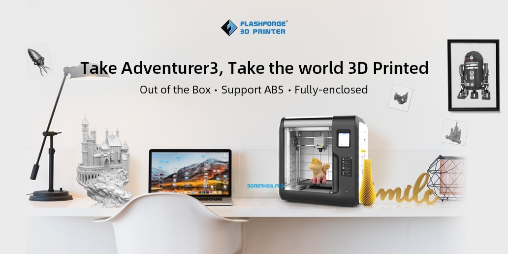 AD • Flashforge • Adventurer 3 can support multiple filaments, PLA, ABS, etc.