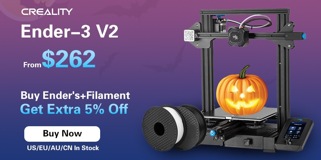 AD • CREALITY • Ender-3 V2 • FDM 3D printer for 262$