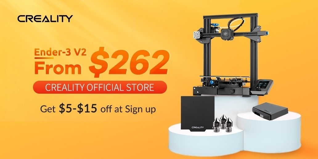 AD • CREALITY • 3D Printer Ender 3 V2 starting at 262$.