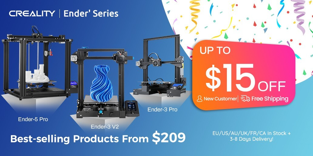 AD • Creality • Ender's series • Best selling  3D printers from $209