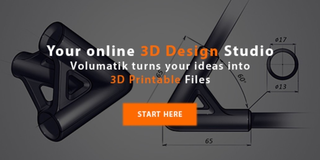 Ad • Volumatik • The first online design studio ready for 3D print