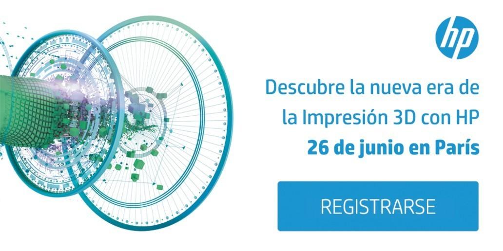 Anuncio • HP • Invitación a descubrir la reinvención de la Impresión 3D