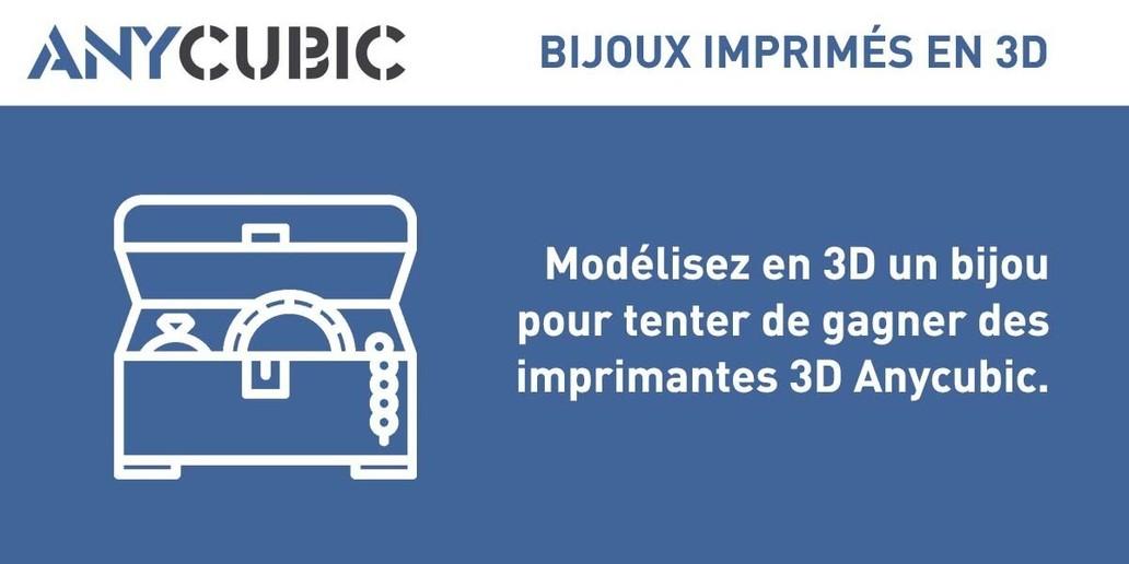 Concours • Modélisez en 3D un bijou pour gagner des imprimantes 3D Anycubic et des filaments PLA !