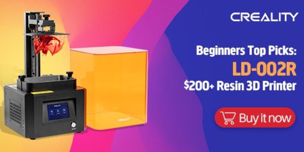 PUB • CREALITY • Imprimante 3D résine LD-002R LCD
