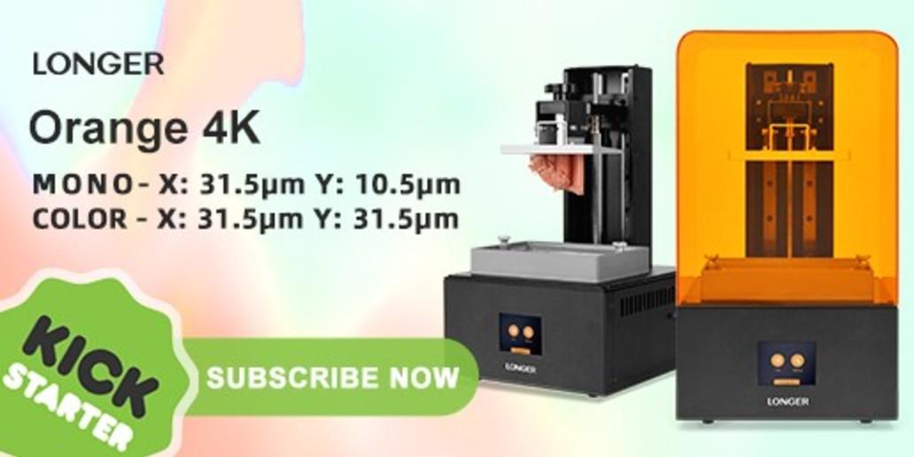 Longer 3D • Imprimante 3D LCD • Orange 4K sera bientôt lancé sur Kickstarter