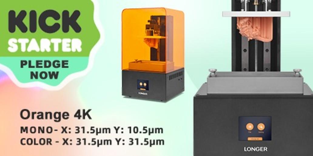 Longer 3D • Imprimante 3D LCD • Orange 4K est en ligne sur Kickstarter