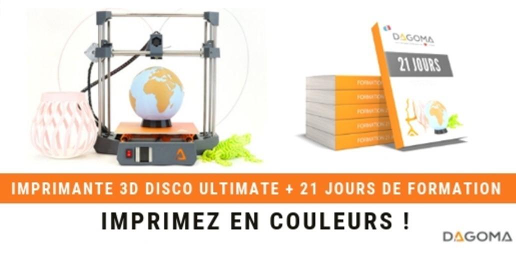 Pub Dagoma • Découvrez l'imprimante 3D Disco Ultimate