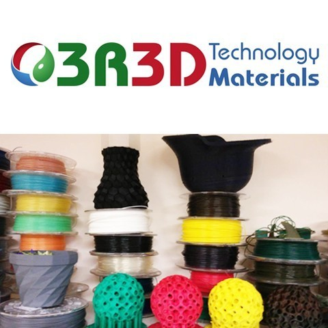 Filaments from 3R3D Technology Materials