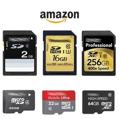 Código de promoción en tarjetas de memoria Amazon / tarjetas SD