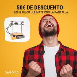 Código de promoción válido en la impresora 3D Dagoma Disco Ultimate