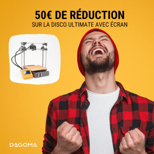 Code Promo Valide sur la Dagoma Disco Ultimate Imprimante 3D