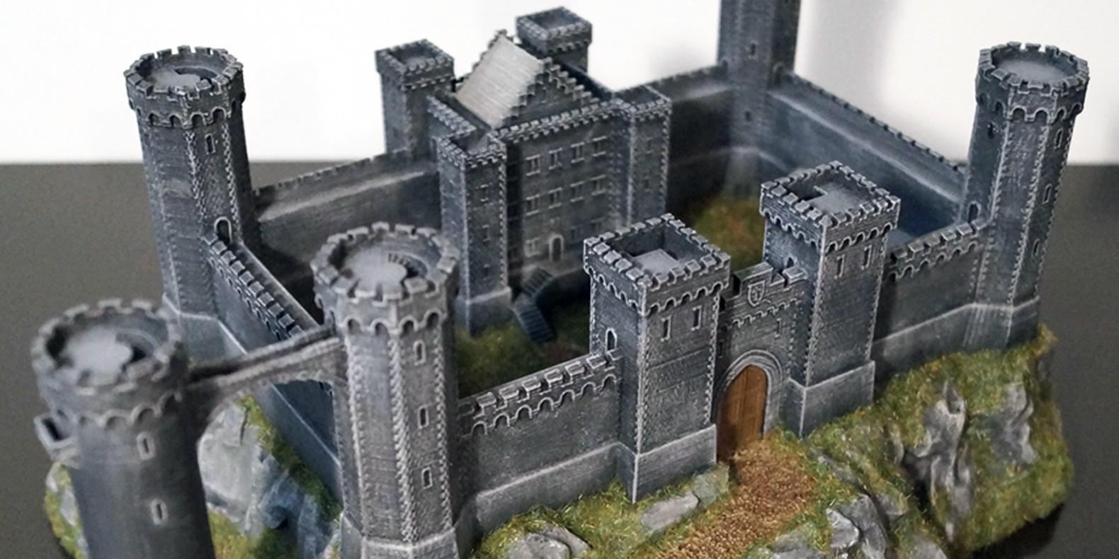 3d print files crusader castle