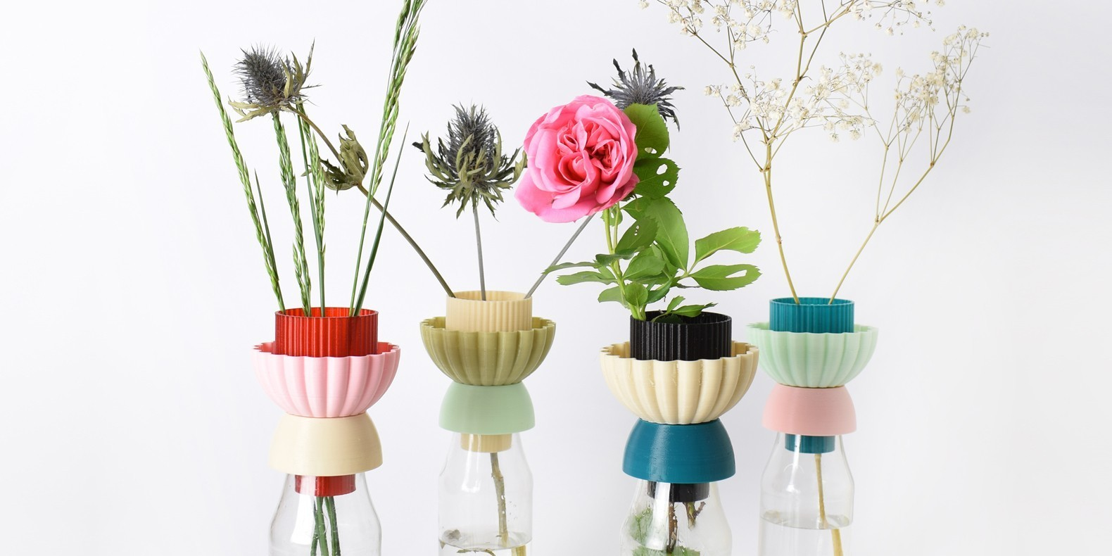 stl file vases from recycled bottles