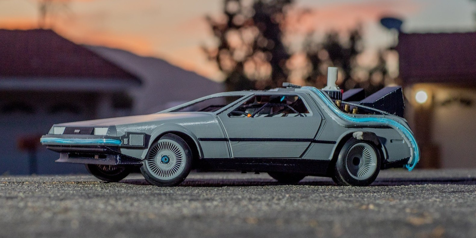 Delorean DMC-12/BTTF Time Machine 3D Printed RC Car