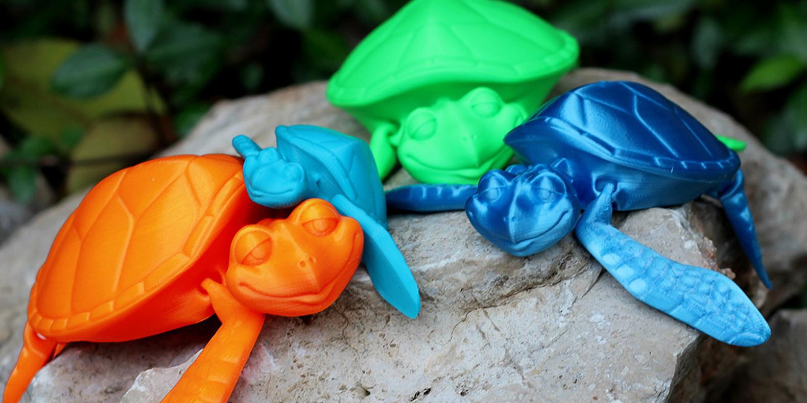 3d print file flexi turtle