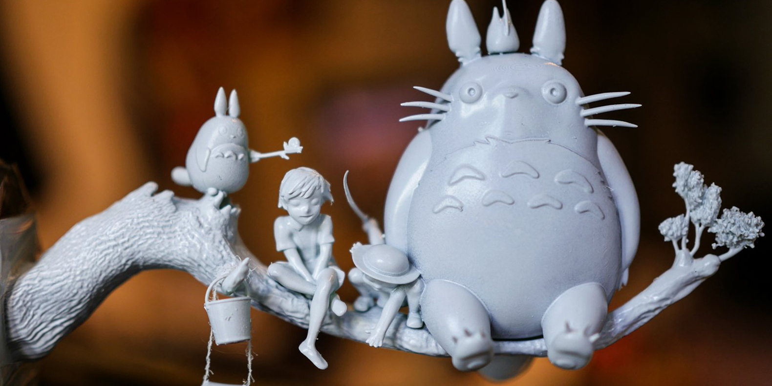 3d print file totoro on a branch