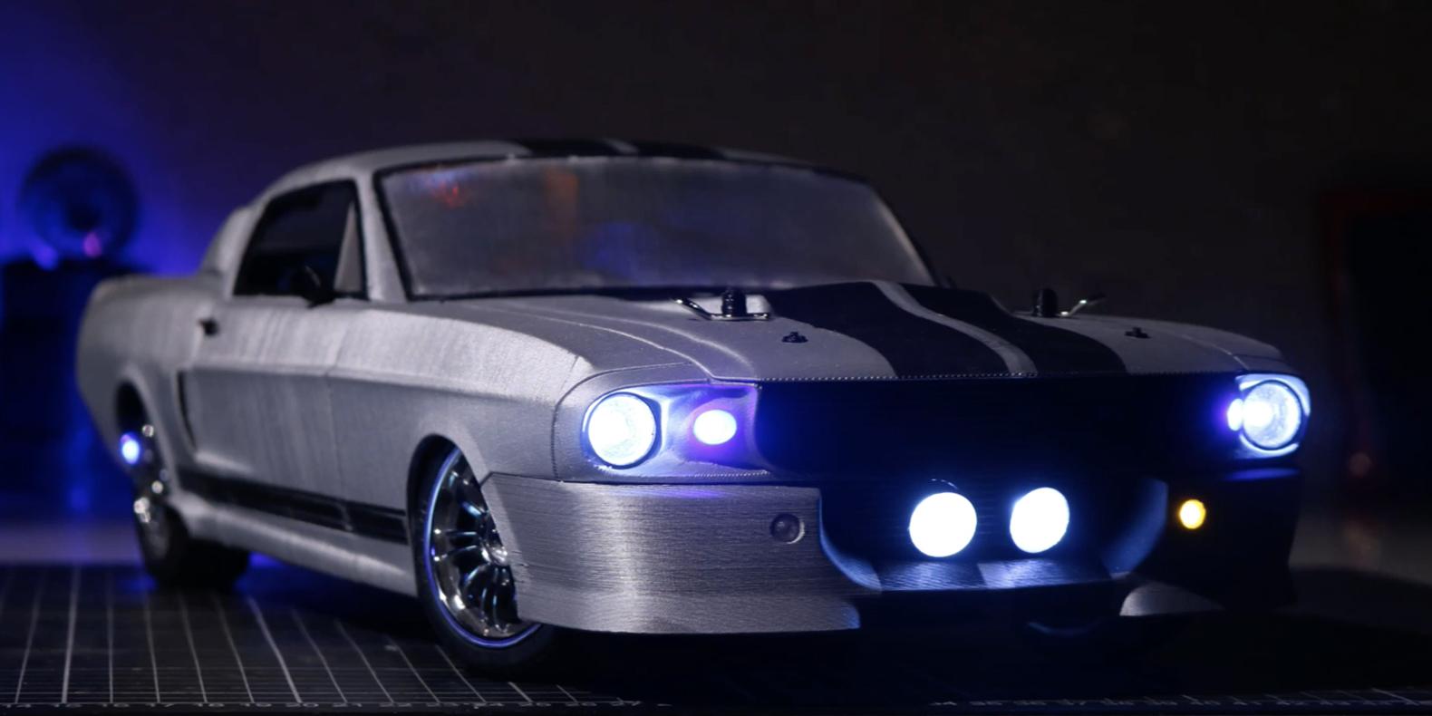 3D print STL for Mustang Eleanor 1/10 RC Car